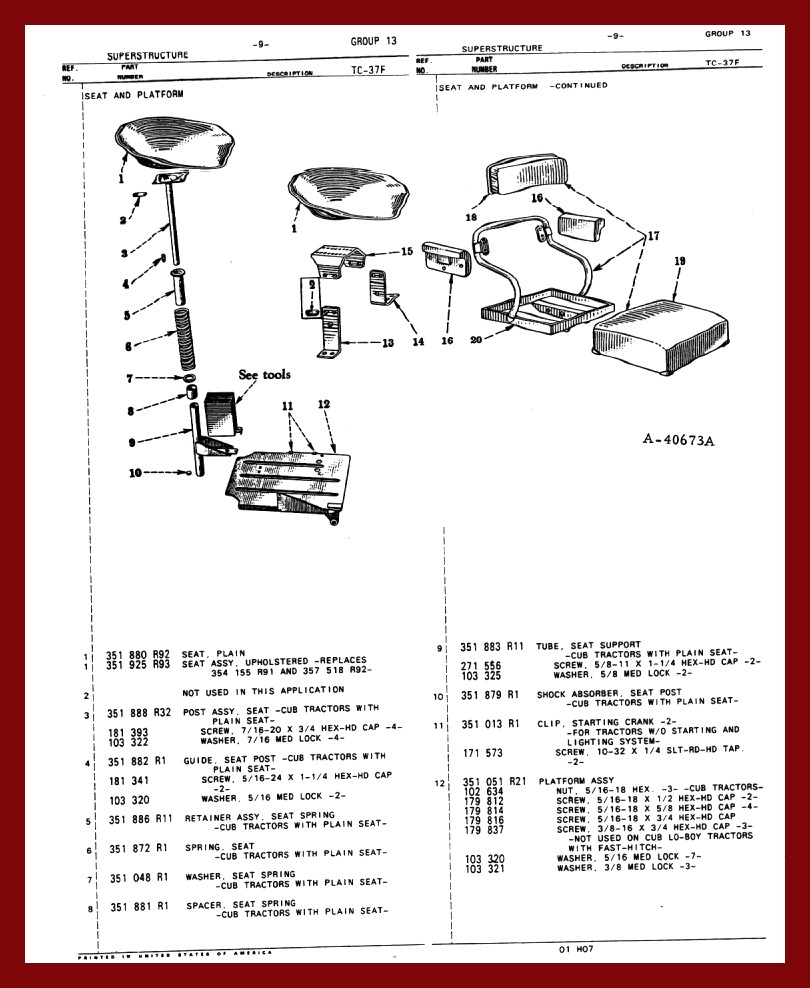 Farmall Cub Chassis 1948 Wiring Diagram Manual Seat Floorpan
