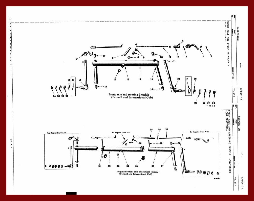 h farmall steering schematic farmall h steering parts diagram farmall cub steering / front axle #10
