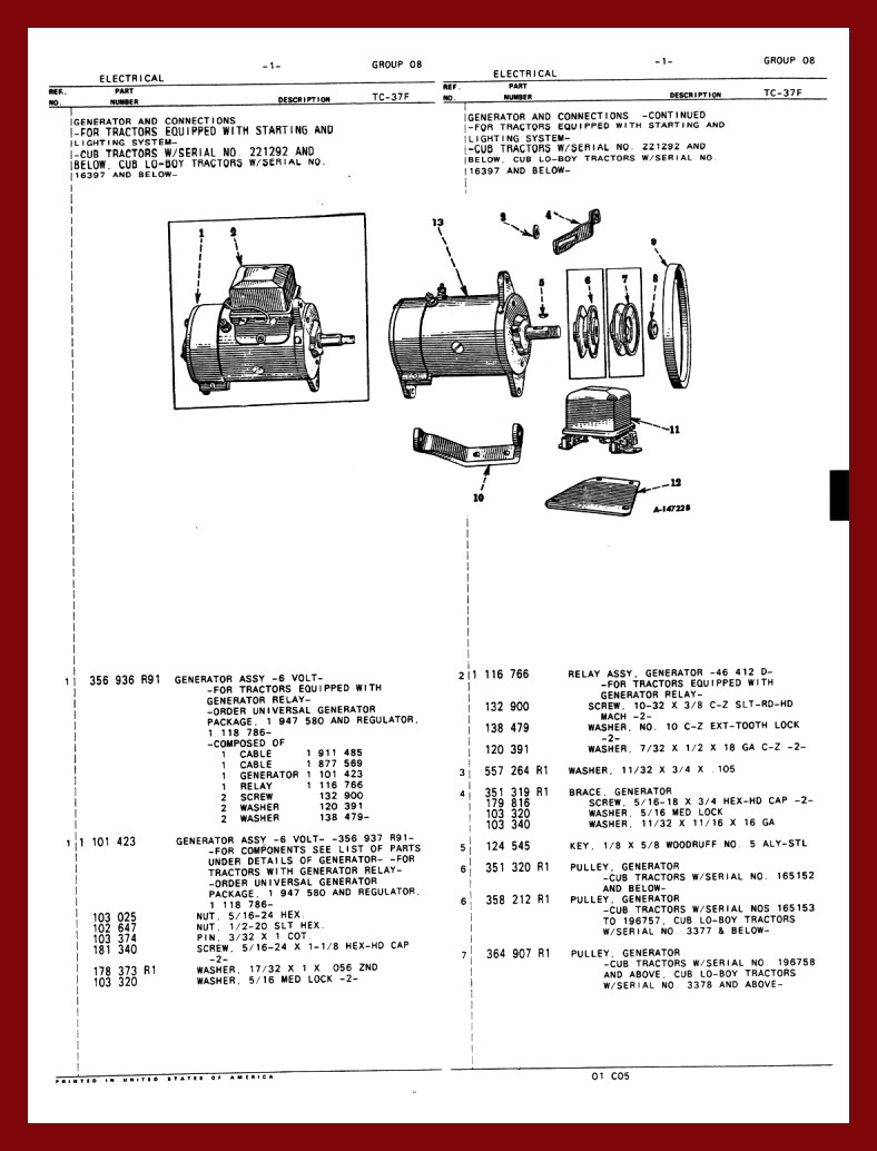 Farmall Cub 6 Volt Wiring Diagram 33 Images Bob Electrical Gen1dia At