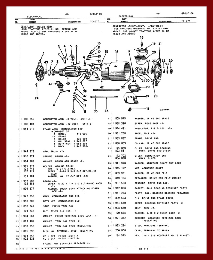 farmall cub 6 volt wiring diagram 33 wiring diagram
