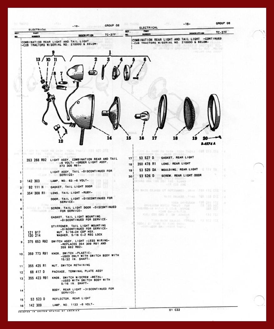 Farmall Rear Light Wiring Diagram - Wiring Circuit •